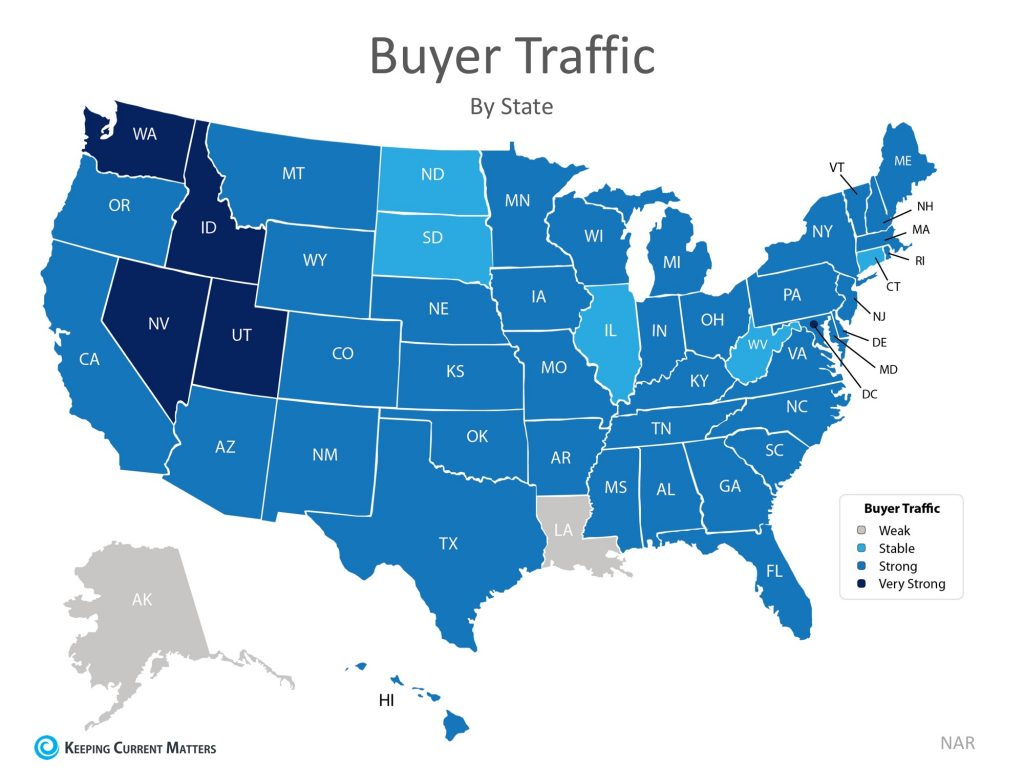 strength of home buyer market by state for 2018